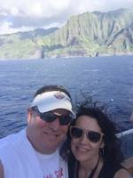 leaving kauai and sailing past the cliffs of NaPali