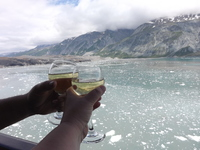 view from our deck while cruising Glacier Bay