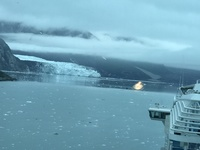 Glacier Bay as seen from from the deck at the rear of the ship. 