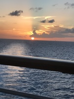 Sunset from the back of the ship