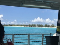 Ferry taking us from the boat to Half Moon Cay