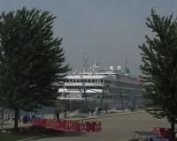 The Pearl Mist in port at Muskegon, Michigan