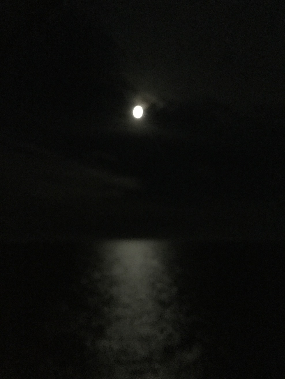 Moon over the Pacific
