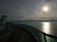 Sunrise heading to Hubbard Glacier