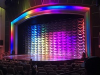 The lighting on the stage in the main theater. So pretty!