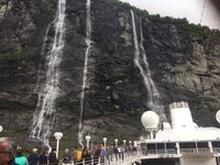 Seven Sisters waterfall, Geiranger fjord