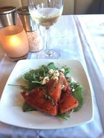 Watermelon salad.  The food was 5-star all the way. The bartenders would ma