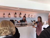 Wine tasting with Virginie in rose colored sweater