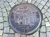 Sewer cover in Bergen