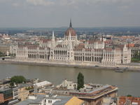Budapest Parliament Building from the Fishermen's Bastion