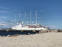The Wind Surf in port in Tallinn, Estonia.