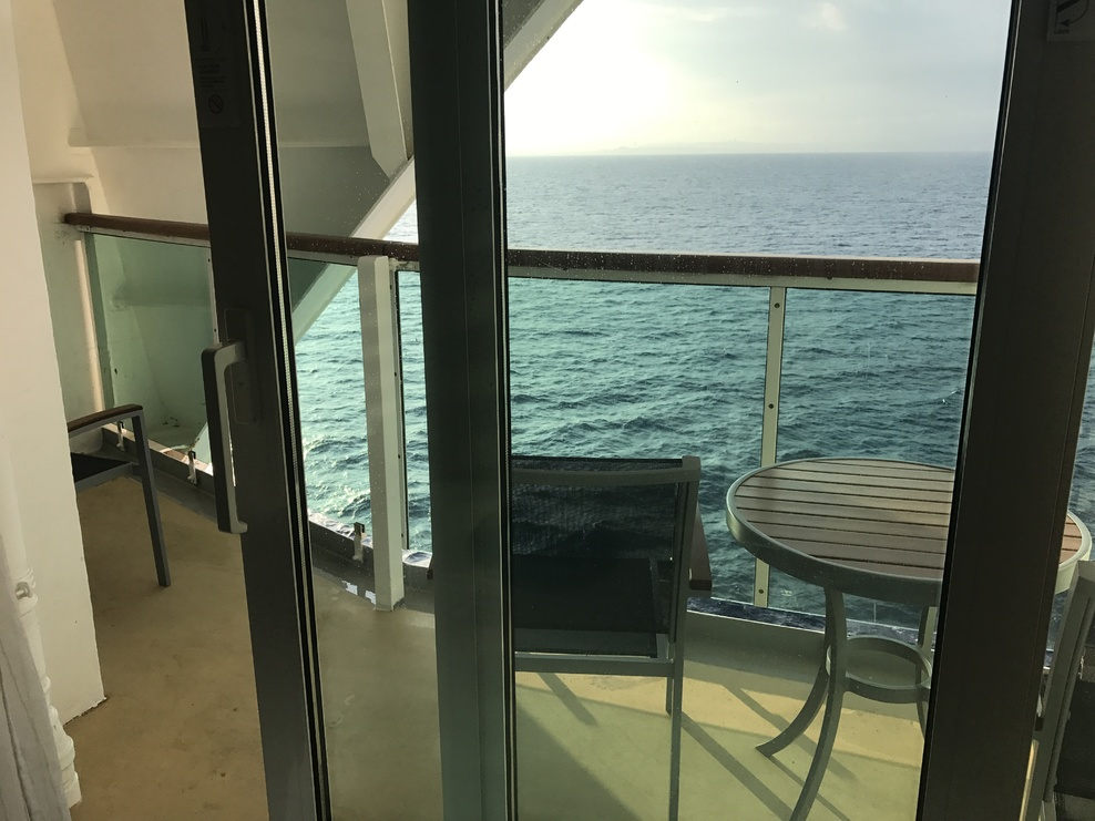Large balcony in room 9254 on Brilliance of the Seas