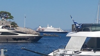 Picture of the SeaDream II while in Hydra.