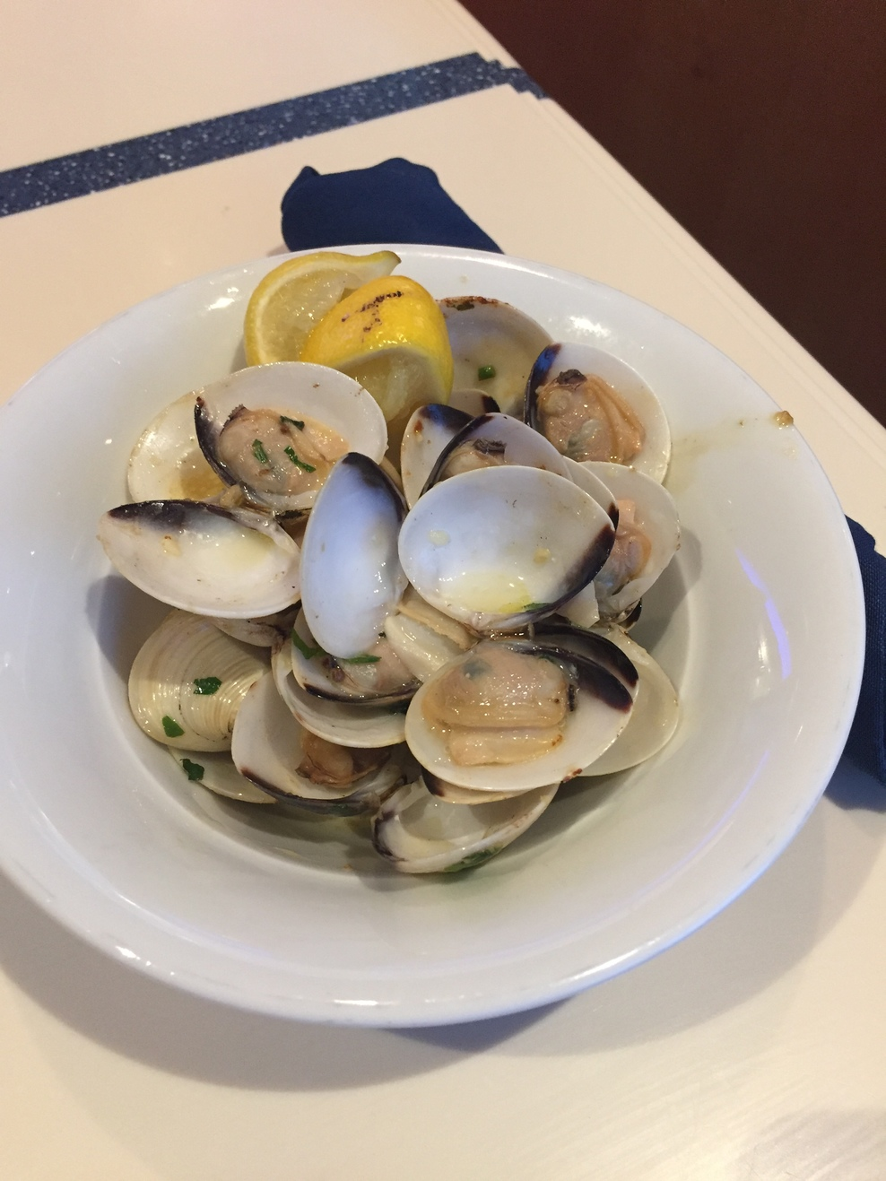 Clams at the buffet