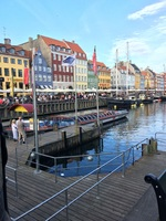 Nyhavn in Copenhagen. Great place to hang out. And grab a bite to eat.