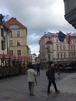 This is Old Town of Tallinn, Estonia.  It's like stepping back in time.
