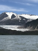 Mendenhall glacier during float trip.