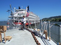 American Empress docking in Astoria, Oregon.