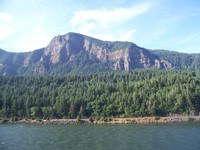Beautiful scenic Columbia River Gorge, one scenic view after another