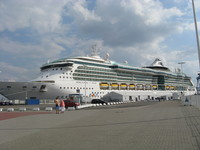 Serenade of the Seas welcomed at Fredericia, Denmark