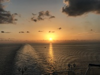 Sunset leaving Bermuda behind us and header back to Boston