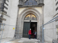 Famous church doors to which where Luther nailed his thesis.
