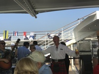 Our fabulous & talented Cruise Director, Ray Solaire, belting the tunes on BBQ night!