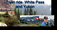 The flags greeted us at the top, hubby loved the White Pass baseball cap he purchased along the way.