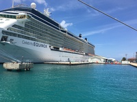 Equinox docked in Bonaire