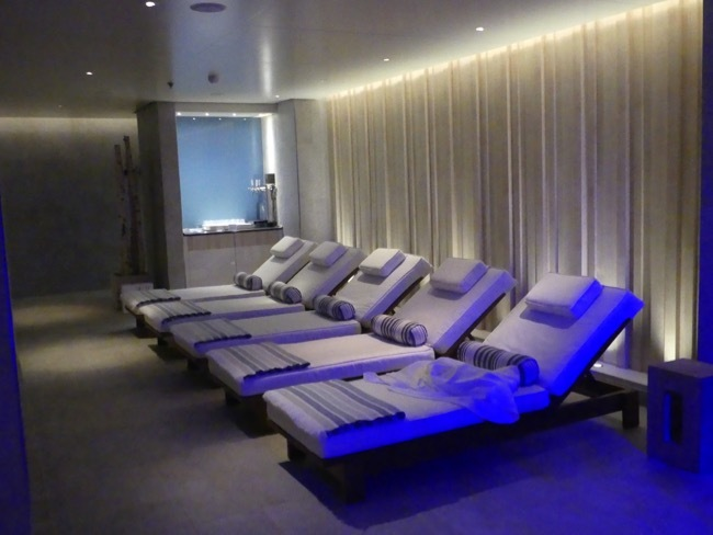 Spa rest and relaxation area