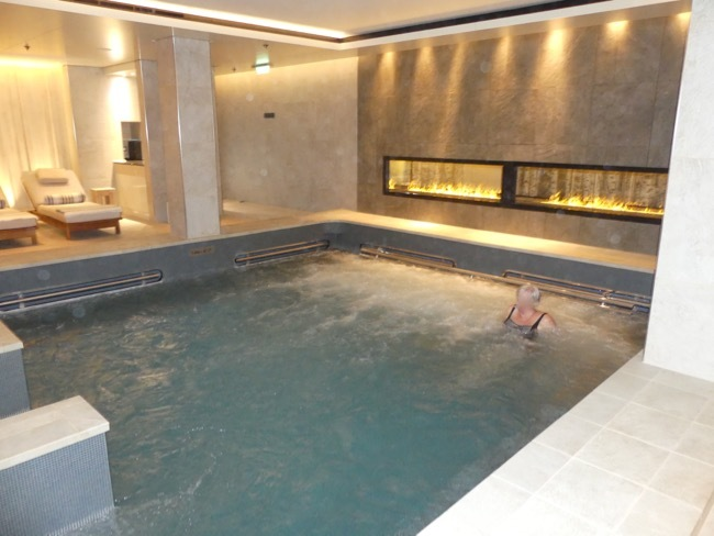 The hot pool in the Spa