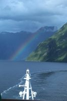 Rainbow in the fjords