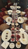 From the wine and chocolate pairing we attended
