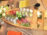 A sushi boat from Bonsai.  Delicious.  We ate here twice this cruise (and o