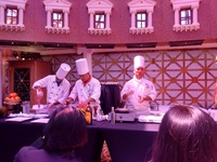 The (free) cooking demo (with samples) at David's Steakhouse.  We will