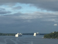 Leaving Stockholm. There were two other ships in front of us