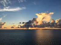 Sunrise from our cabin window as we approach Bermuda