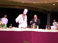 The culinary demonstration by the executive chef and the maitre d' was