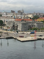 Coming into port at Havana.