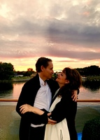 Celebrating our 30th wedding anniversary with the lovely sunset as a backdr