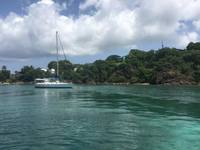 On St. Thomas, we took the fast cat out to see the sea turtles and other tr