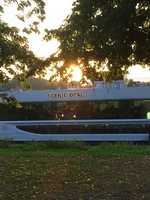 Scenic Opal docked at Rastatt while we attended an exclusive concert at Ras