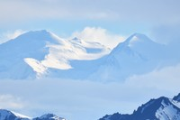 Both peaks of Mt. Denali from 45 miles away.