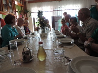 Family hosted lunch in Croatia.