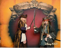 Doing photo dressed as jack sparrow on pirate night Disney magic