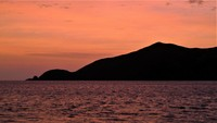 The northern tip of Waya Island, Fiji from Nalauwaki Bay at sunrise.