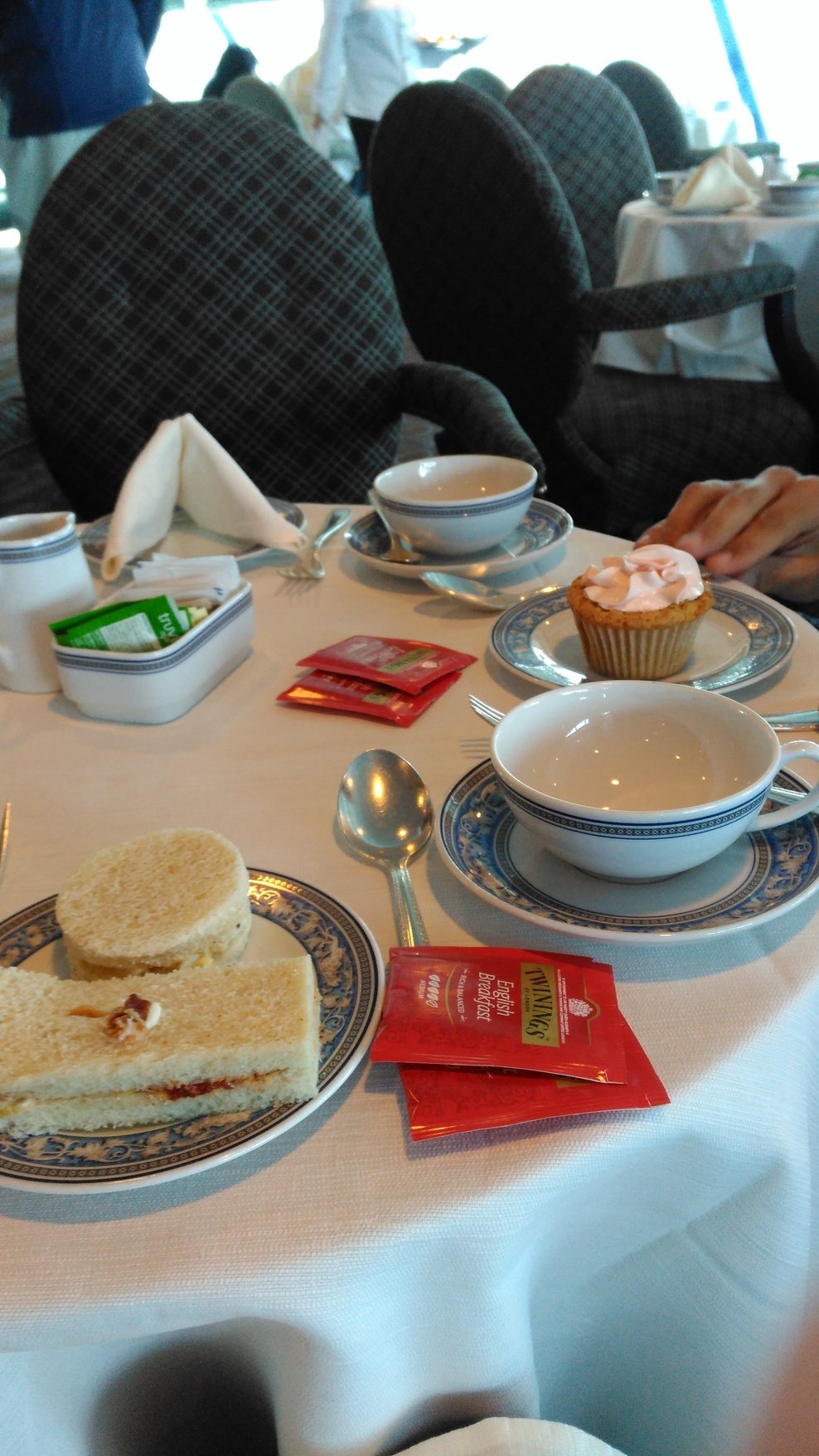 Afternoon tea in a gale force storm