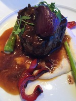 Steak filet for dinner in Blu