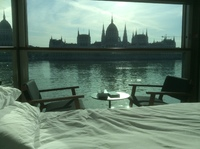 Our room with a view. Budapest Parliament Buildings