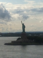 Lady liberty as we sail out of nyc
